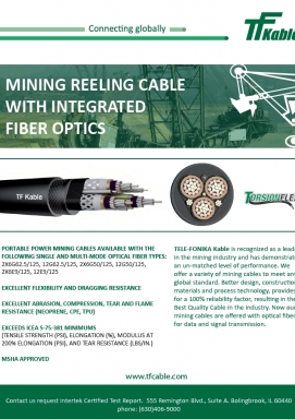 Mining Cable with Fiber Optic Module Line Card